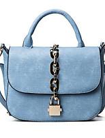 Women Shoulder Bag PU All Seasons Casual Outdoor Rectangle Clasp Lock Gray Blue