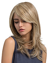 Enchanting Oblique Fringe Natural Wave Long Hair Synthetic Wig