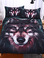 3D Wolf Bedding Gift Home Unique Design Duvet Cover Set Twin Full Queen Size Animals 3 Piece Reactive Print 3pcs (1 Duvet Cover 2 Shams)