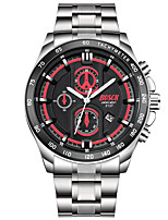 Men's Dress Watch Fashion Watch Quartz Calendar Stainless Steel Band Casual Silver