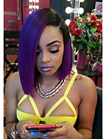New Style T1B/PURPLE Skily Straight Full Lace Human Hair Wigs with Baby Hair Glueless Lace Front Wigs 100% Brazilian Virgin Hair Wigs for Black Woman
