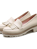 Damen Loafers & Slip-Ons Komfort Gladiator Kunstleder Herbst Normal Kleid Komfort Gladiator Niedriger AbsatzWeiß Schwarz Rosa