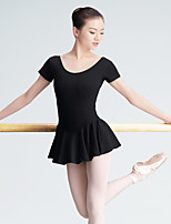 Ballet Leotards Women's Training Spandex 1 Piece Short Sleeve Long Sleeve High Leotard