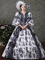 Une Pièce/Robes Gothique Doux Lolita Classique/Traditionnelle Punk Rétro Elégant Victorien Rococo Princesse Cosplay Vêtrements Lolita