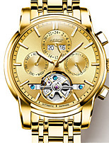 Men's Fashion Watch Mechanical Watch Automatic self-winding Water Resistant / Water Proof Alloy Band Gold