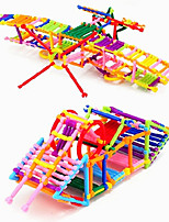 Approx 500PCS Interlocking Assembly Plastic DIY Smart Intelligence Stick 3D Building Blocks Construction Educational Toys Set Random Shape Color