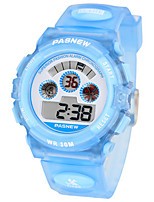 Kid's Sport Watch Digital Water Resistant / Water Proof Rubber Band Blue Pink