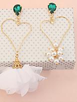 Femme Boucles d'oreille goutte Strass Perle imitéeBasique Original Pendant Amitié euroaméricains Gothique Fleur Bijoux Movie Bijoux