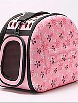 Gato Cachorro Tranportadoras e Malas Animais de Estimação Transportadores Portátil Respirável Geométrica Flor Cinzento Rosa claro