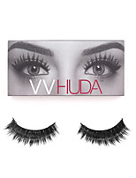 VVHUDA Mink False Eyelashes Handmade Natural Individual Strip Thick Extensions Eyes Fake Lashes Beauty Party Collection Claudia