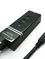 Yuankaida jy-sh005a hub usb 3.0 5gbps super-vitesse 4 ports