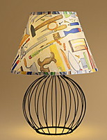 Table Lamp Living Room Bedroom Bedside Lamp Retro Fabric Resin British Table Lamp