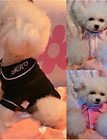 Dog Pajamas Dog Clothes Casual/Daily Solid Black Blushing Pink Ruby
