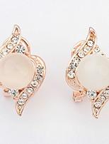 Stud Earrings Drop Earrings Women's Fashion Luxury Opal Droplets Rhinestone Drop Dangle Earring  Party Jewelry Party Daily