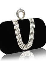 Women Evening Bag Nylon All Seasons Wedding Event/Party Formal Square Mini Spot Chain Clasp Lock Fuchsia Red Black