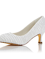 Women's Heels Basic Pump Fall Winter Satin Wedding Party & Evening White 2in-2 3/4in