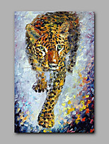 Hand-Painted Leopard Animal  Oil Painting On Canvas Modern Wall Art Picture For Home Decoration
