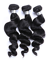 Best Quality 3 Pcs 300g Brazilian Virgin Human Hair Wefts 100% Unprocessed Natural Black Hair 130% Density Loose Wave Human Hair Weaves/Extensions