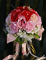 YuXiYing Hemispherical  Rose Wedding Bride Large Bouquet 8 Colors