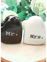 Bride and Groom Salt and Pepper Shakers Set Wedding Favors 10.5*3*6.5cm/box