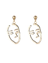 Women's Dangle Earrings Euramerican Fashion Personalized Statement Jewelry Chrome Irregular Jewelry For Dailywear Outdoor