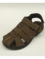 Men's Sandals Comfort Cowhide Spring Summer Casual Comfort Army Green Flat