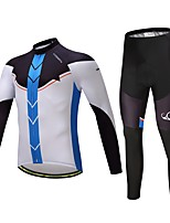 Cycling Jersey with Tights Unisex Long Sleeves Bike Clothing Suits Ventilation Quick Dry Spandex Polyester LYCRA® Silicon Autumn Spring