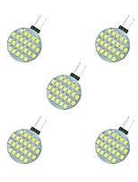 2.5W LED Crystal Light G4 24SMD 2835 White/Warm White DC12V 5Pcs
