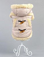 Dog Coat Dog Clothes Casual/Daily Solid Khaki Brown
