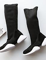 Damen Stiefel Komfort PU Frühling Normal Komfort Schwarz 2,5 - 4,5 cm
