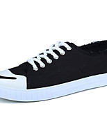 Для мужчин Кеды Удобная обувь Ткань Весна Осень Шнуровка На плоской подошве Черный Серый Желтый Зеленый Хаки Менее 2,5 см