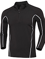 Men's Running T-Shirt Long Sleeves Moisture Wicking Quick Dry Sweatshirt Tops for Running/Jogging Exercise & Fitness Loose Black