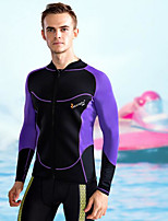 Men's Boating Ultraviolet Resistant Diving Suit Long Sleeve Tops-Swimming Beach Surfing Sailing Watersports All SeasonsSolid Classic