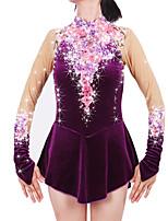 Ice Skating Dress Women's Girls' Long Sleeve Skating Skirts & Dresses Dresses High Elasticity Figure Skating Dress Keep WarmSpandex