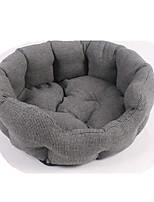Dog Bed Pet Baskets Solid Warm Soft Washable Gray