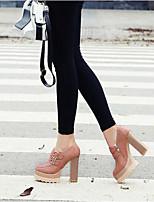 Femme Chaussures à Talons Confort Polyuréthane Printemps Décontracté Confort Noir Beige Gris Rose 10 à 12 cm