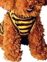 Собака Жилет Одежда для собак На каждый день Полоски Желтый Коричневый полоса
