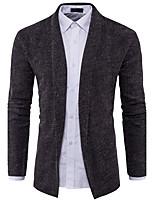 Herren Standard Strickjacke-Lässig/Alltäglich Einfach Solide V-Ausschnitt Langarm Polyester Herbst Winter Mittel Mikro-elastisch