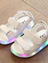 Boys' Sandals Light Up Shoes Mary Jane Comfort Leatherette Summer Fall Casual Outdoor Walking Light Up Shoes Mary Jane Comfort Magic Tape