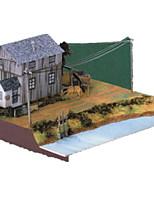Puzzles Kit de Bricolage Puzzles 3D Blocs de Construction Jouets DIY  Maison Papier cartonné