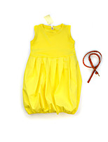 Girl's Solid Dress,Cotton Fall Winter Sleeveless
