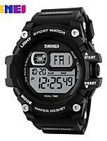 Men's Sport Watch Digital Watch Digital PU Band Black