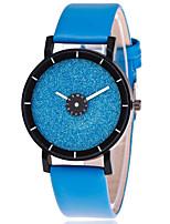 Жен. Модные часы Кварцевый Кожа Группа Повседневная Черный Белый Синий Зеленый Желтый Роуз