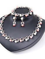 Femme Set de Bijoux Collier de perles Nuptiales Parures euroaméricains Simple Style Classique Mode Strass Forme Géométrique PourMariage