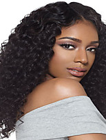 Popular Curly Wig Natural Color Human Virgin Hair 130% Density Lace Front Wig with Baby Hair for Black Women
