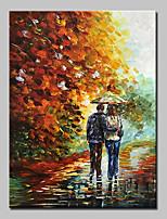 Pintados à mão Paisagens Abstratas Vertical,Abstracto Modern 1 Painel Tela Pintura a Óleo For Decoração para casa