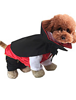 Cat Dog Costume Dog Clothes Halloween Cartoon White Black Ruby Green Jade