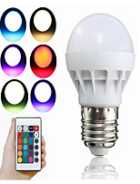 3W LED Smart Bulbs A50 1 Integrate LED 100 lm RGB Remote-Controlled Decorative AC85-265 V 1 pc