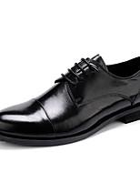 Для мужчин Свадебная обувь Формальная обувь Натуральная кожа Кожа Весна Осень Формальная обувь Черный Менее 2,5 см