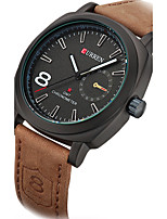 CURREN Homens Relógio Esportivo Relógio de Moda Relógio de Pulso Único Criativo relógio Relógio Casual Quartzo Couro Legitimo Banda